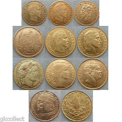 France, Italy, Tunisia, Serbia, Poland, Turkey, 11 gold goins, Accepted offers
