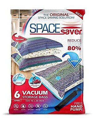 Premium *JUMBO* Space Saver Bags [Lifetime Replacement Guarantee] Works With Any