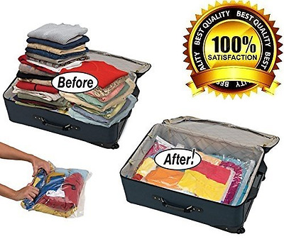12 High Quality Space Saver Travel Roll-Up Storage Bags (12 pack of Sizes Small