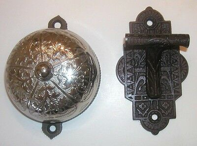 1879 Nickel Plated Iron Doorbell With Lever