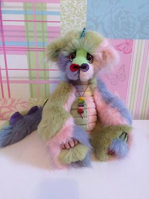 Stunning pink green ooak dragon by Sweenikle Bears