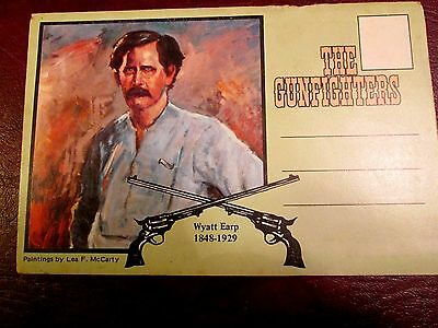 Vintage Antique Post Card Booklet ' The Gunfighters' Old West Fold Out Booklet