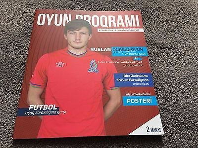 Azerbaijan v Northern Ireland 2017- World Cup Russia 2018 Qualifier- Programme