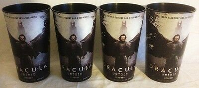 Dracula Untold Theater Exclusive Promotional 44 oz Plastic Cups Set of Four (4)