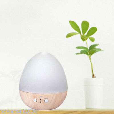 Essential Oil Wood+Glass Ultrasonic Mist Air Purifier Humidifier Aroma Diffuser