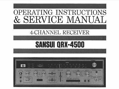 sansui qrx 4500 4 ch recvr operating instructions and service manual rh picclick co uk