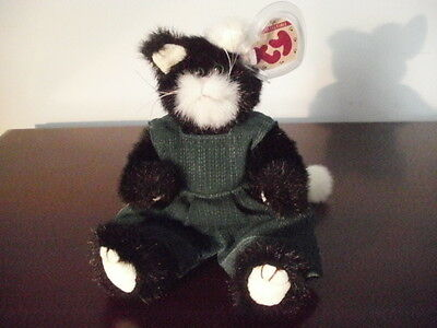 TY~Attic~Purrcy Beanie~1993~jointed style~6022~beautiful condition~mwmt