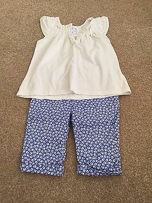 Spanish Designer Mayoral top & trousers set, cotton summer, baby girl 12 months