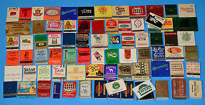 75+ Vintage Match Books & Boxes • Mostly 1960's-80's • In Van Dyck Cigar Box