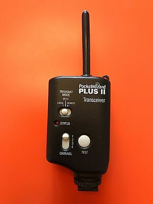 PocketWizard Plus II Transceiver / Radio Slave (sync cord not included)