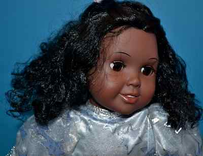 "1996 Black/African-American 17"" Doll w/Soft Stuffed Body, Soft Curls, Brown Eyes"