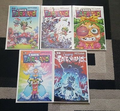 I Hate Fairyland. Lot of first print issues 1-5. (#1 signed by Skottie Young)