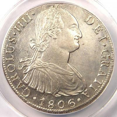 1806-L JP Peru 8 Reales Coin Charles IV (8R) - Certified ANACS AU55 Details!