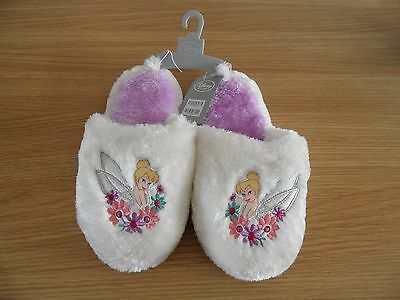 Disney Store Tinkerbell Ladies Soft Slippers Size 5 - 6 Brand New