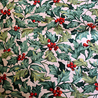 Longaberger American Holly Napkin Christmas