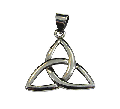 Handcrafted 925 Sterling Silver Celtic Irish Trinity TRIQUETRA KNOT Pendant