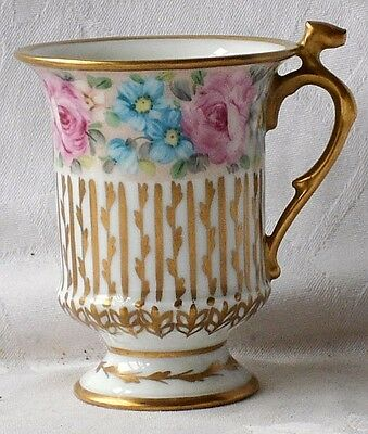 Early C20Th Limoges Hand Painted And Gilded Cabinet Cup