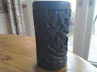 Antique / Vintage Chinese carved brush pot.