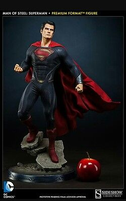 SUPERMAN Man of Steel PREMIUM Format figure Statue Sideshow collectibles