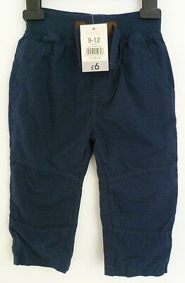 NEW WITH TAGS baby boys long cotton trousers by George 9-12 months