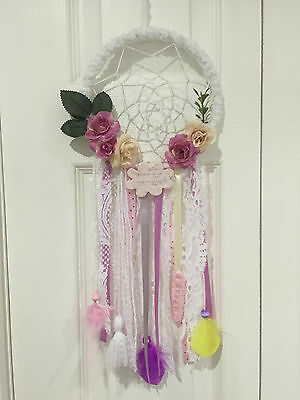 Dreamcatcher wall hanging for kids room protection from bad dreams - Handmade