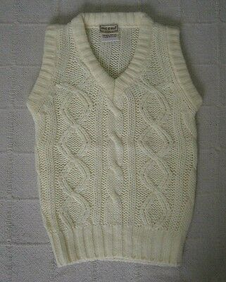 Vintage ChunkyTank Top - Age 5-6 - White Cable - New