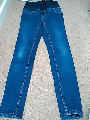 new look maternity skinny jeans size 12 blue
