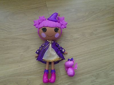 Lalaloopsy Full Sized Star Magic Spells Magician Doll with Pink Pet Dragon
