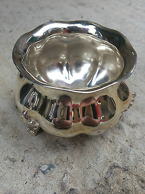 Lovely Vintage Stirling Silver 925 Ornate Salt / Sugar Bowl