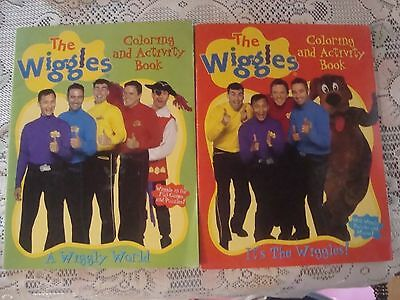 Lot 2 Its The Wiggles Coloring & Activity Book New Unused 2003-04 +Wiggley World