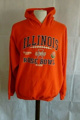 """Illinois hoodie. Fighting Illini hoody. 2008. 26"""" pit-to-pit, 29"""" length, 2XL"""