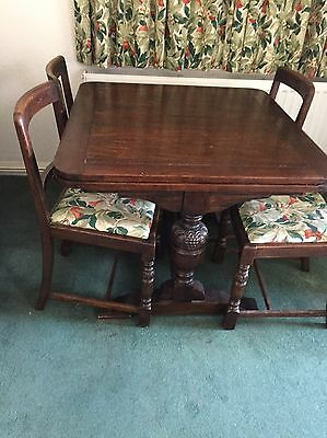 Vintage Extending Table And X4 Chairs