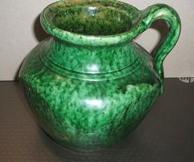"""Vase or Jug Green Glazed, Approx 6"""" x 5"""" with, impressed mark 1004"""