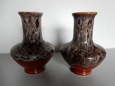 Pair of Pottery Vases, Lava Dripware Design, Made by Kingston Pottery England, a