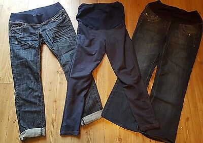 Job lot of Maternity Jeans (Next) and Denim Look Leggings, size 8 / XS