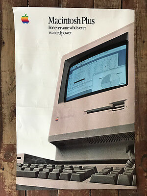 "Large 36""x24"" POSTER ""Macintosh Plus: For everyone who's.."" from Apple Computer"