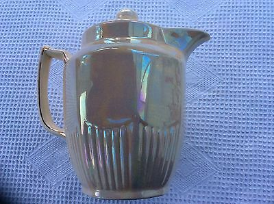 Vintage Deco Arthur Wood Teapot In Cream Opalescent Lustre
