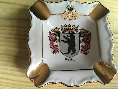 China Unmarked Ashtray - Berlin Crest