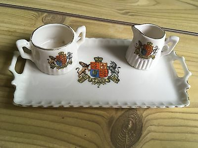 Crested  China ,gemma  - Tea Set  - English Coat Of Arms Crest