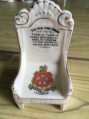 Crested China Arm Chair - Leicester Crest