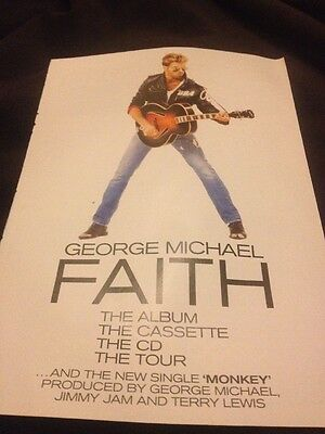 GEORGE MICHAEL Faith/Monkey UK magazine ADVERT/Poster/Clipping 11x8 inches