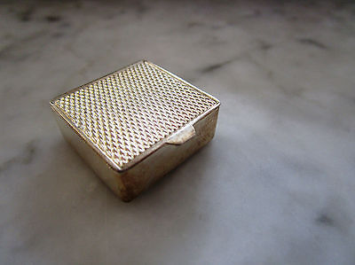 Solid Silver 925 Pill Box Engine Turned Top Gilt Interior