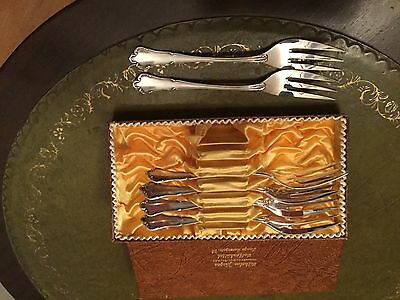 vintage silver plated cake forks made in germany