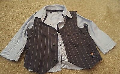 Boys shirt and waistcoat 12-18 months
