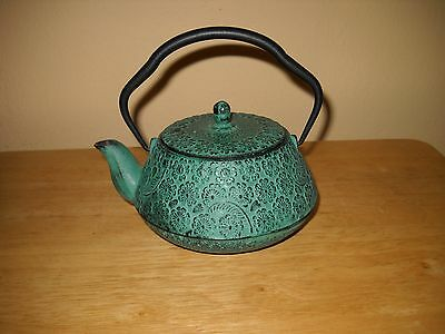 Vintage Antique Japanese Tetsubin? Cast Iron Tea Kettle Teapot Signed