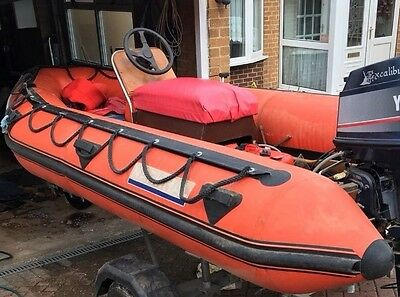 Boat / RIB /Inflatable - Jockey Console/Steering And Controls & RIB For Spares