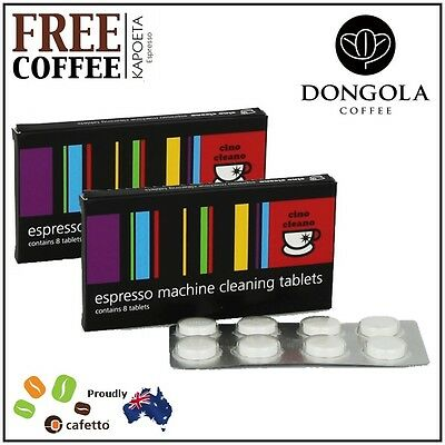2 NESPRESSO Espresso Coffee Machine Cleaning Tablets Cleaner Clean KAPOETA Beans