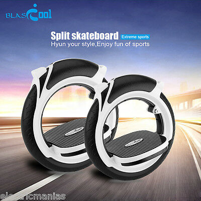 Compact Split Skateboard Scooter Self Balance Roller Extreme Sports Board +Pedal