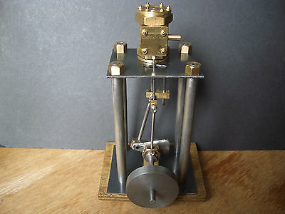 Scratch Built Table Engine Vertical Double Action Stationary Model Steam Engine.