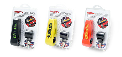 Datatool Croc Lock Motorcycle Motorbike Brake Lever Security Orange/Black/Yellow